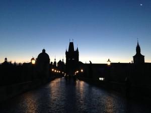プラハ早朝ランカレル橋
