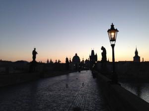 プラハの綺麗な景色早朝ラン