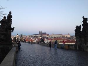 プラハの景色早朝ラン
