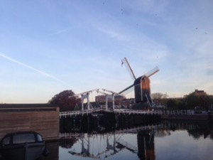 オランダ Leiden 早朝ランニング