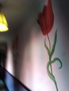 オランダ デン・ハーグの最高級ホテルDes Indes宿泊記廊下のチューリップ