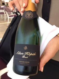 ホテルチュラーン・パレス・ケンピンスキー・イスタンブールスパークリングワインのボトル