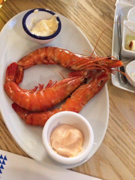 Ostras & Coisas Restaurante SAのおいしい海老