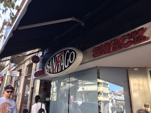 ポルト名物フランセジーニャ@Café Santiago Fお店
