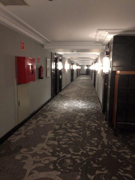 Westin Palace Madridお部屋までの道のり