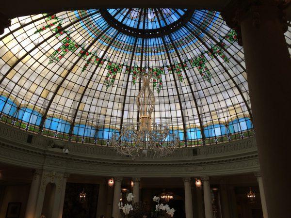 Westin Palace MadridロビーラウンジLa Rotondaの素敵な天井