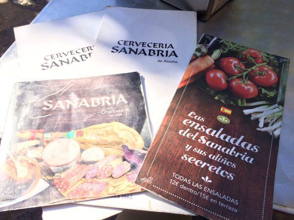 ソフィア王妃芸術センター前のお薦めレストランRestaurante Sanabria