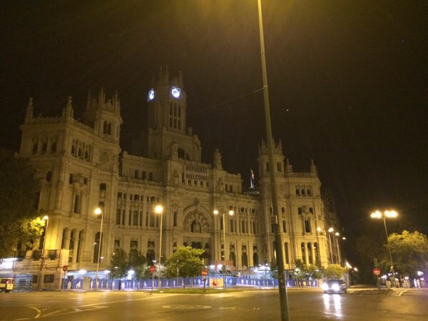 早朝ランマドリッドCibeles Center for Culture and Citizenship