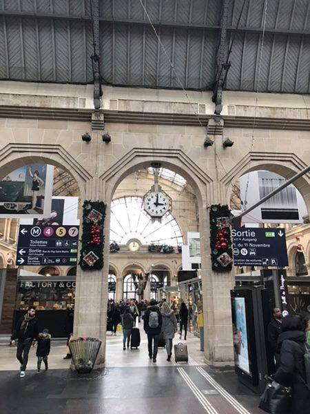 パリ東駅到着