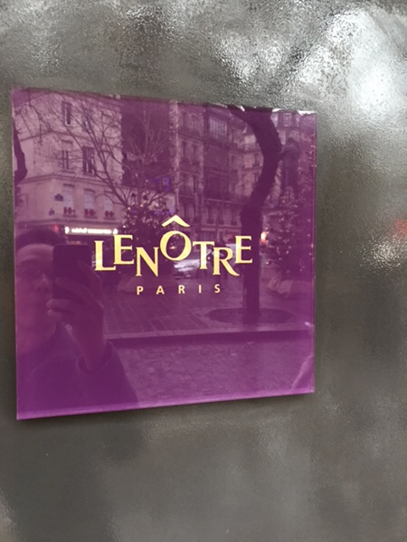 Lenotreパリ、バスティーユ広場すぐの老舗パティスリー店舗ロゴ