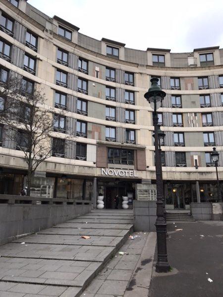 Hotel Novotel Paris Gare de Lyon滞在記ホテルの外観
