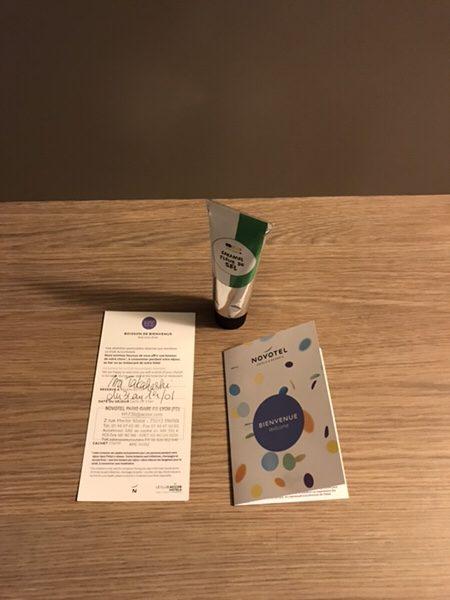 Hotel Novotel Paris Gare de Lyon滞在記ウェルカムギフト