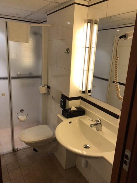 ストックホルム中心部にある便利なホテルBest Western Kom Hotel Stockholm宿泊記バスルーム