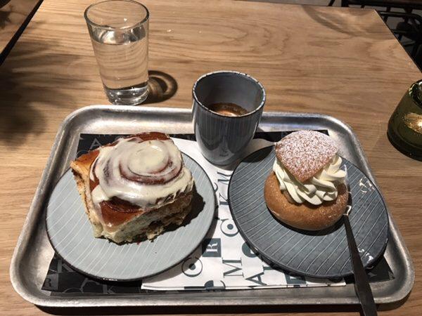 ストックホルムの人気ケーキ屋さんMR CAKEエスプレッソ、セムラ、シナモンロール