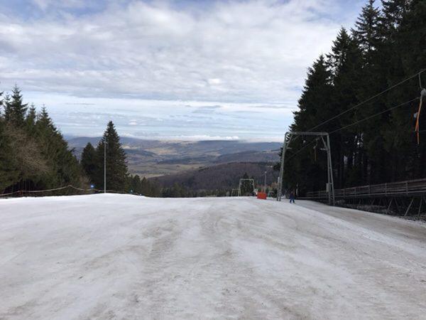 ヘッセン州の最高峰WasserKuppeで春スキー
