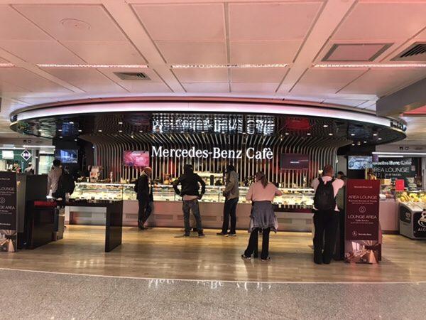 Mercedes-Benz Cafè@ローマ空港