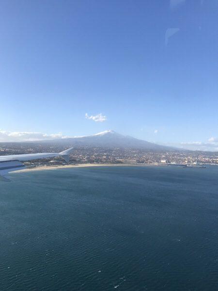 飛行機からのエトナ山1
