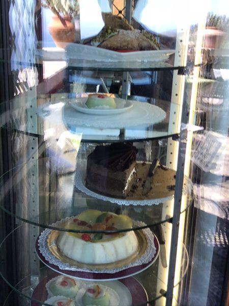 Antico Cafe San Giorgio@castelmola美味しそうなイタリアンスイーツ
