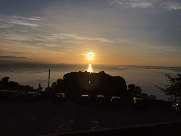 taormina-morning-run sunrise over Isola bella
