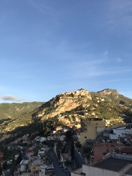 taormina-morning-run Castelmola from Santuario Madonna della Rocca