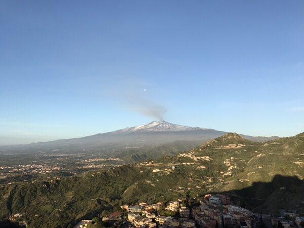 taormina-morning-run Mt. Etna from Santuario Madonna della Rocca