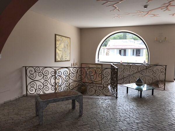 Hotel Garden vulcano階段踊り場