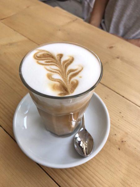 Bohnerie café röstsalon@frankfurtラテマキアート