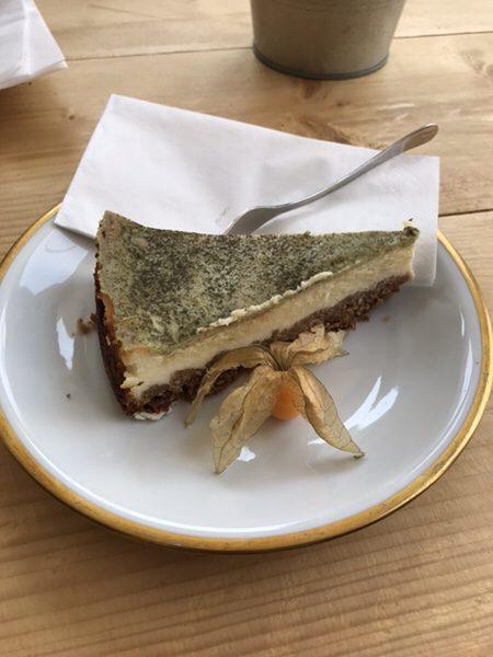 Bohnerie café röstsalon@frankfurt抹茶チーズケーキ