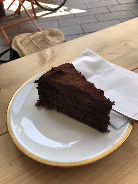 Bohnerie café röstsalon@frankfurtチョコレートケーキ