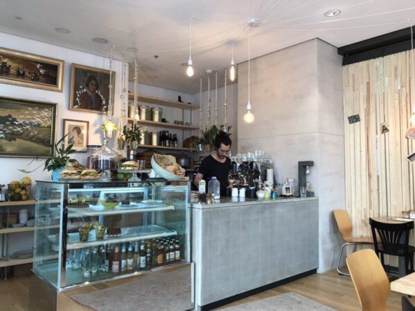 Bohnerie café röstsalon@frankfurtカウンター