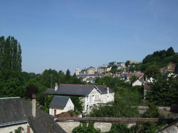 クロ・リュセの館から望むアンボワーズ城