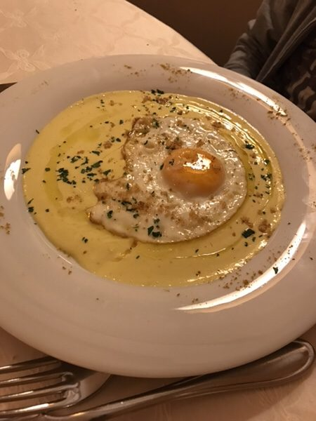 dinner hotel garden vulcano Egg to the eye of Ox