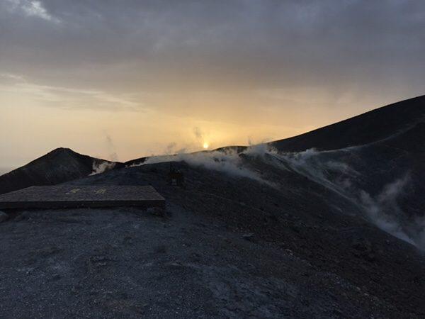 vulcanoで早朝ラン朝日