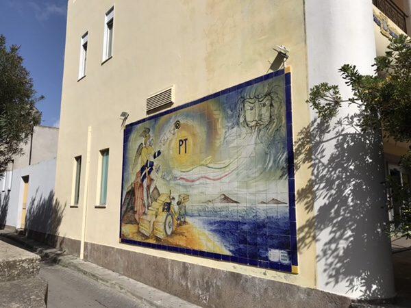 リパリ島ヴィットリオ・エマヌエーレ通り郵便局の絵