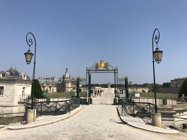 Chantilly castle and whipped cream