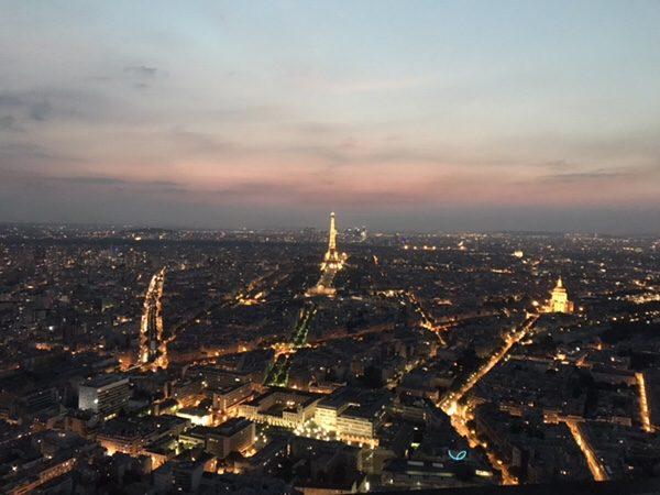 モンパルナスタワーからのパリの夜景
