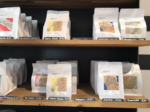 Hoppenworth & Ploch Röstereiパッケージが豆の生産地の地図