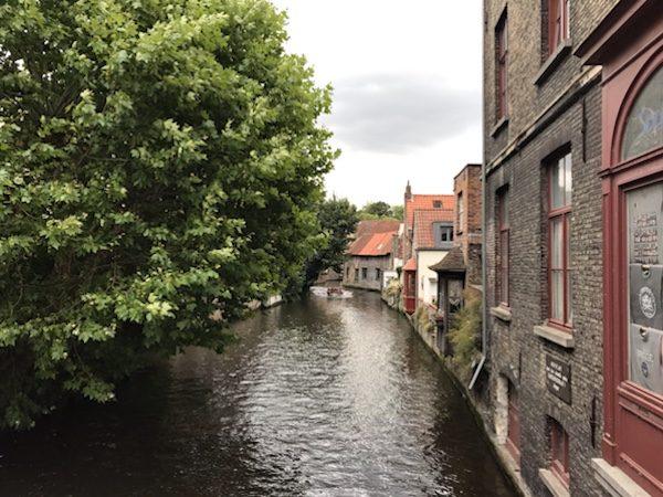 ブリュージュ観光美しい運河の景色