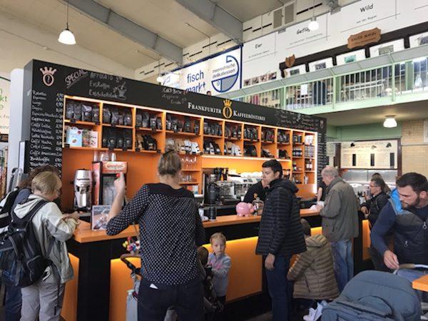 フランクフルトKleinmarkthalleの美味しいコーヒー