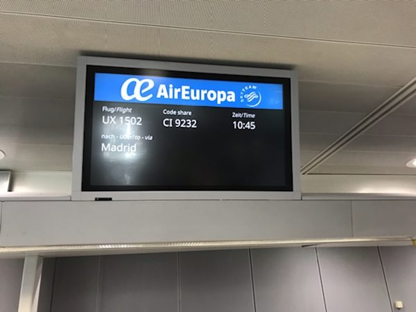 air europa frankfurt madrid