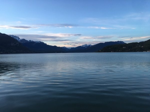 morning run in Annecy