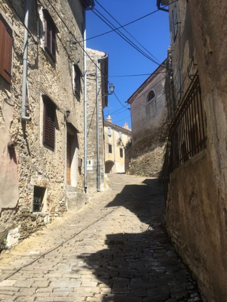 city walking in Motovun